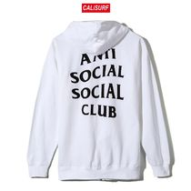 Mサイズ ANTISOCIAL CLUB Masochism Zip Up Hoodie/WHITE