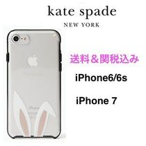 ◆Kate Spade◆うさぎの耳◆iPhone 6/6s/7 ケース◆クリアー