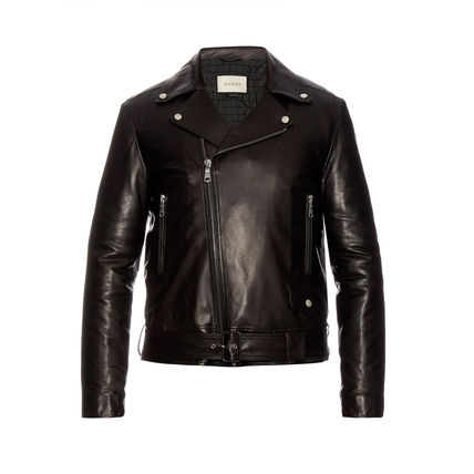Gucci classic leather by car jacket riders
