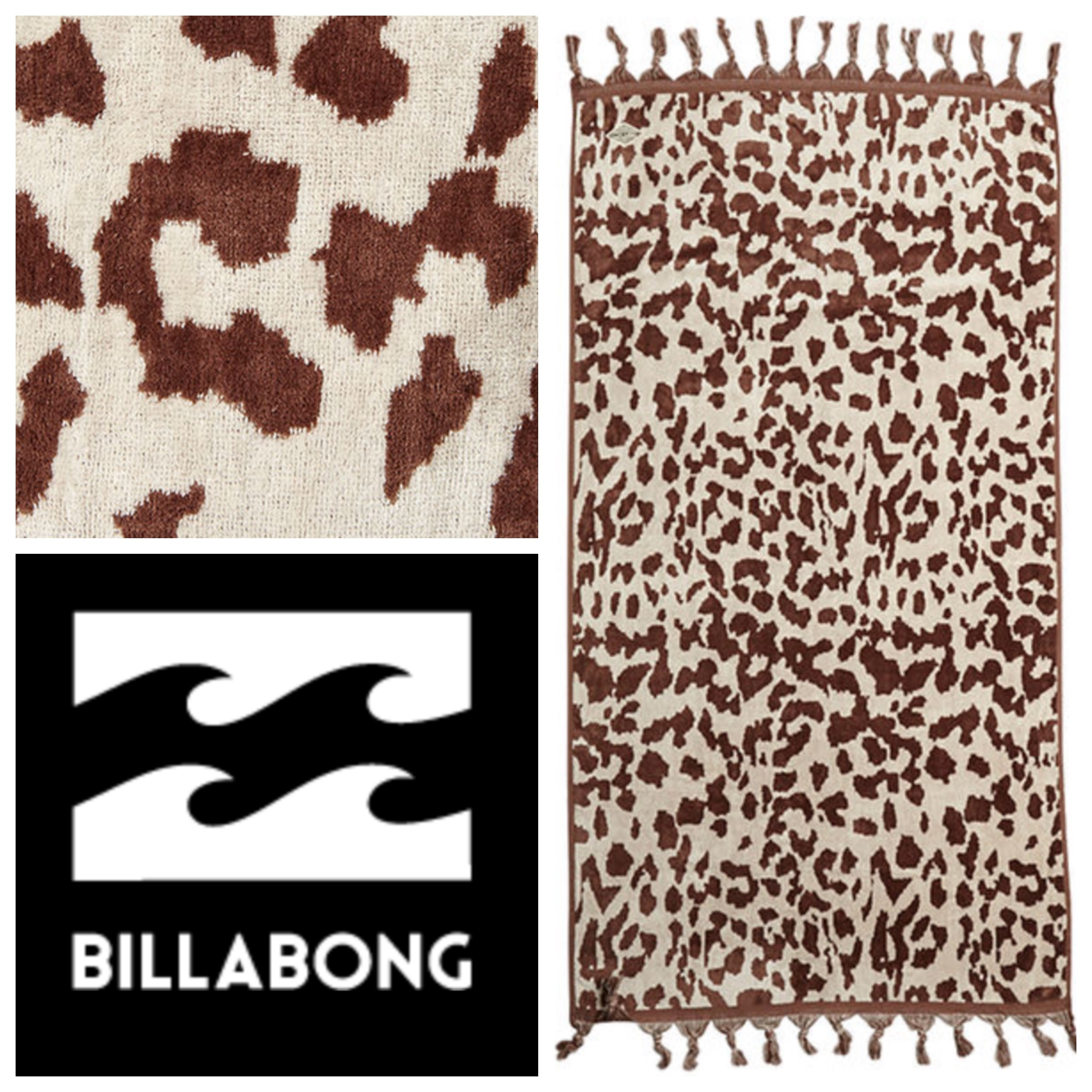 ビーチタオル☆BILLABONG ANIMALIA TOWEL
