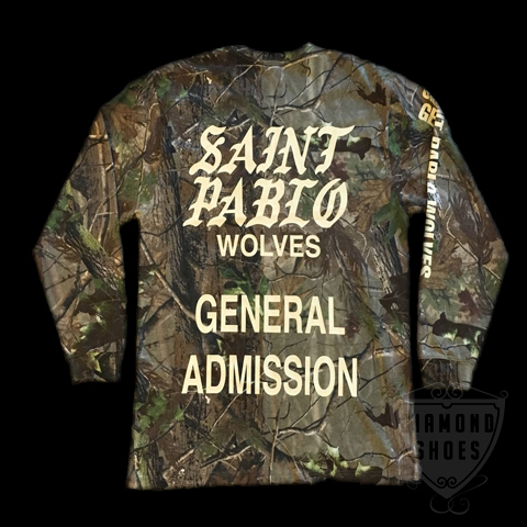KANYE WEST SAINT PABLO LA TOUR L/S T-SHIRTS CAMO 送料無料