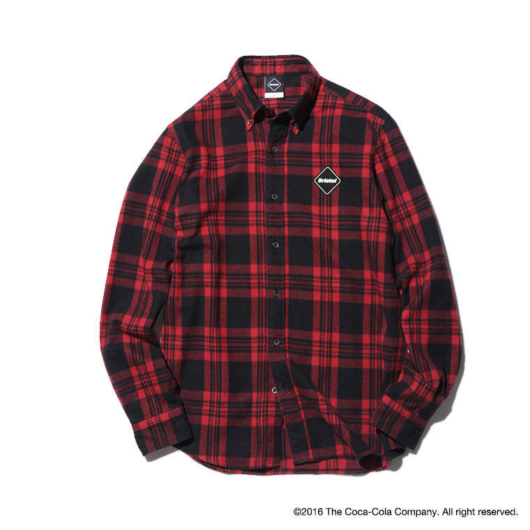 FCRB 16AW Coca Cola TOUR FLANNEL SHIRT チェックシャツ