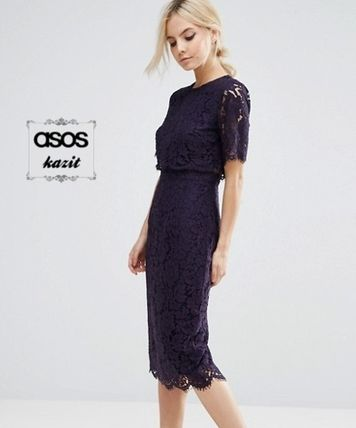* ASOS * * crop TOP lace pencil dress homepages