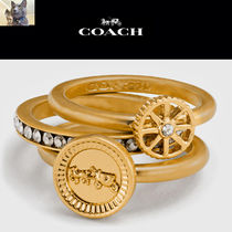 【Coach】PAVE horse and carriage coin ring set リングセット