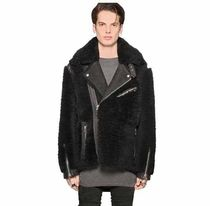 SHEARLING OVERSIZED BIKER JACKET