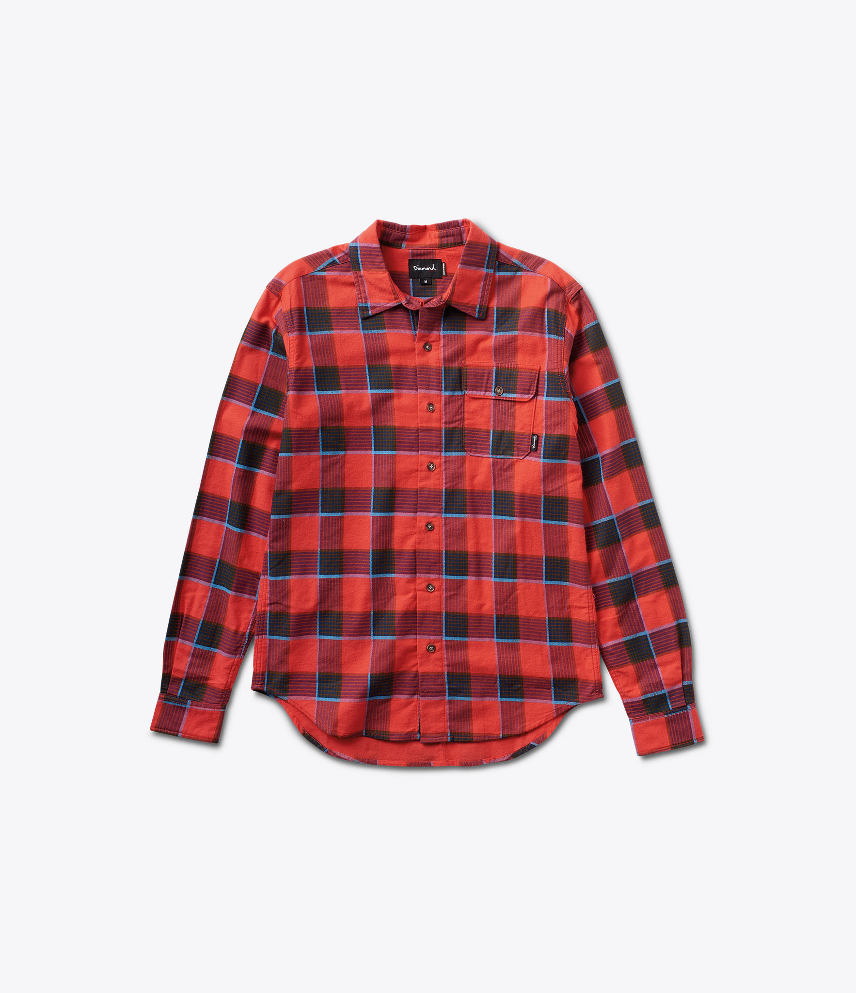 ダイヤモンドサプライ C16DMTA02 HOLIDAY FLANNEL SHIRT BURGUND
