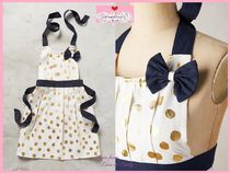 17SS*最安値*関送料込【Anthro】Gold Polka Dot Kid's Apron