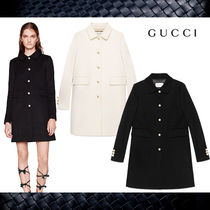 新作【Gucci】グッチ★Single-breasted wool coat★コート