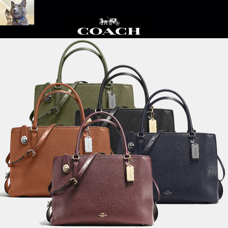 【Coah】 BROOKLYN carryall 34 in pebble leather トートバッグ