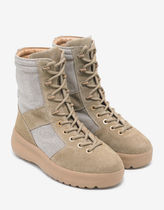 Yeezy Season3  Rock Beige Nylon & Suede Military Boots