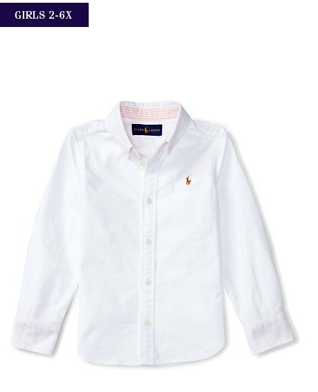 新作♪ 国内発送 3色 COTTON OXFORD SHIRT girls 2~6X