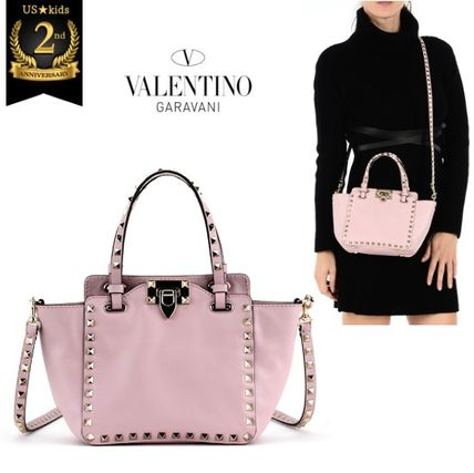 New VALENTINO rock studded tote Pink VIP sale * *