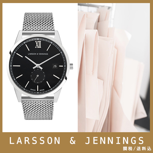 【送関込】LARSSON&JENNINGS☆SAXON 39mm Silve/Blackr☆国発
