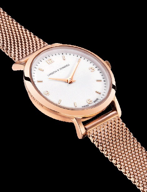 【送関込】LARSSON&JENNINGS☆LUGANO 26mm Rosegold/White☆国発