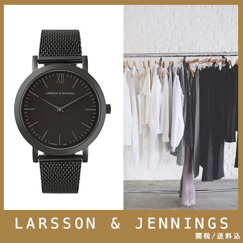 【送関込】LARSSON&JENNINGS☆LUGANO 33mm black☆国内発送
