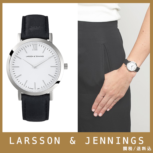 【送関込】LARSSON&JENNINGS☆LUGANO 33mm black/silver☆国発