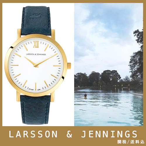 【送関込】LARSSON&JENNINGS☆LUGANO 33mm blue☆国内発送