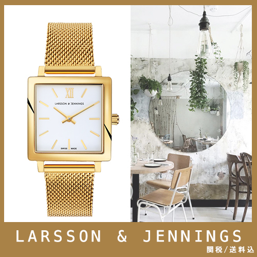 【送関込】LARSSON&JENNINGS☆NORSE 27x34mm gold/white☆国発