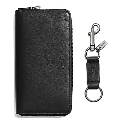 Coach 長財布 プレゼントにも☆COACH☆LEATHER ACCORDION WALLET+KEYRING(3)