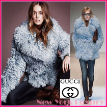 GUCCI★グッチ★素敵!SHEARLING DOUBLE BREASTED BLUE PEACOAT