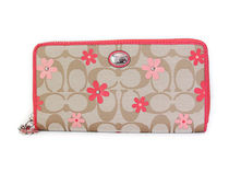 COACH DAISY SIGNATURE FLORAL Accordion Zip F51339