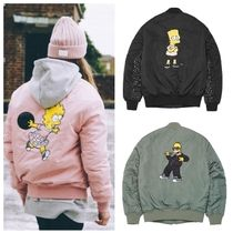 日本未入荷 STEREOVINYLSの[AW16 Simpsons] MA-1 Jacket 全3色