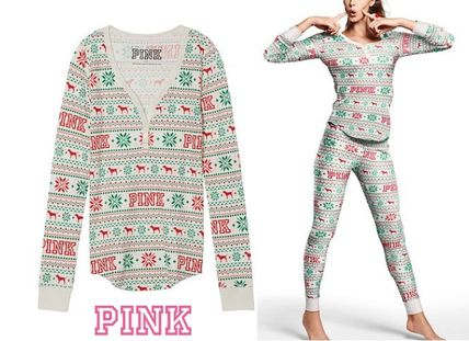 Victoria's Secret ルームウェア・パジャマ ★新作★ 【PINK・ヴィクシー】 ホリデー パジャマ TOP(3)