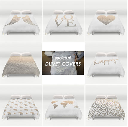Society6 pattern and size quilt cover /Gold gold) series