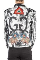 GUCCI(グッチ)☆Embellished calf leather jacket☆ブラック系
