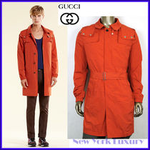 GUCCI★グッチ★素敵!Orange Nylon Stretch Trench Coat