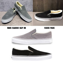 VANS★CLASSIC SLIP ON★FLEECE PACK★スエード★もこもこ★2色