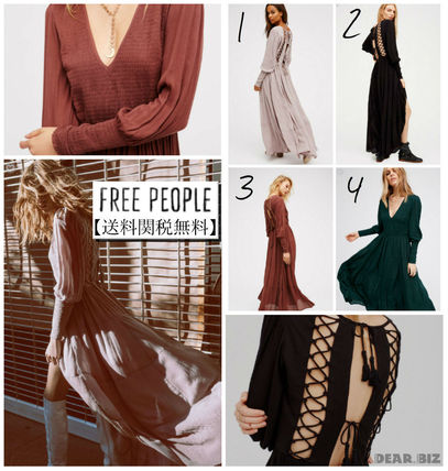 Free People 背中レースアップマキシ/4色展開【送料・関税込】