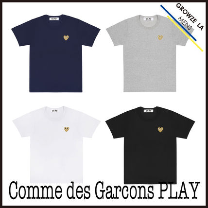 ★【COMME des GARCONS PLAY】入手困難!!新作 ロゴ Tシャツ GOLD