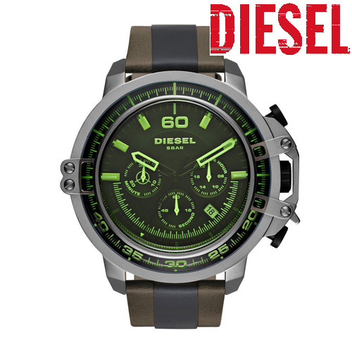 ★NEW★DIESEL Deadeye Black Dial Chronograph Men's DZ4407
