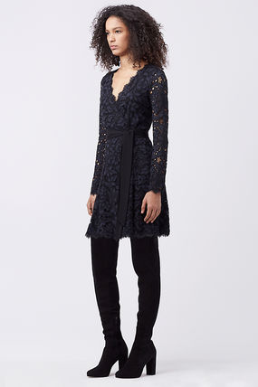 国内発送☆DVF☆DVF SHAELYN LACE WRAP DRESS送料込