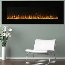 LED Fire and Ice Electric Fireplace with Remote - 54 Inch