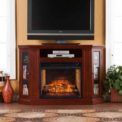 Clement Cherry Convertible Media Infrared Fireplace