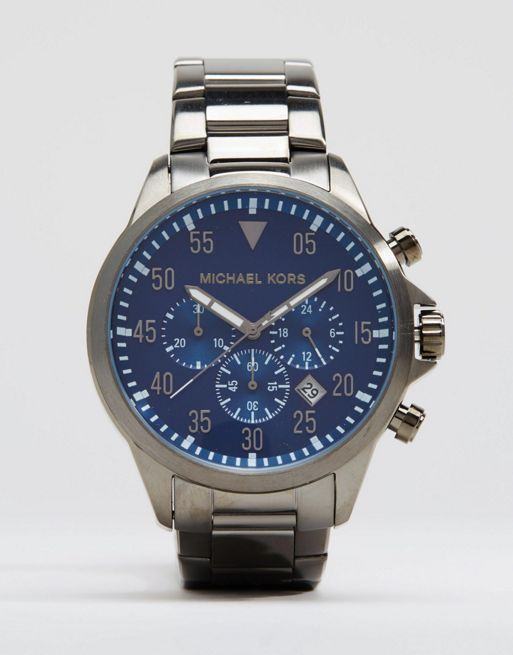 ☆大人気 Michael Kors Gage Chronograph Watch In Stainless ☆