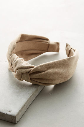 anthropologie/お洒落 Knotted Microsuede Headband/関込