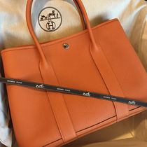 HERMES/Garden PM 36cm【パリ本店購入】ORANGE Veau Negonda