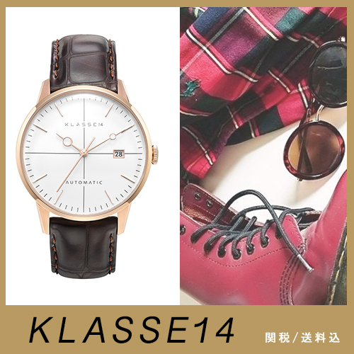 送関込【KLASSE14】DISCO VOLANTE BROWN LEATHER 40MM AUTOMATIC
