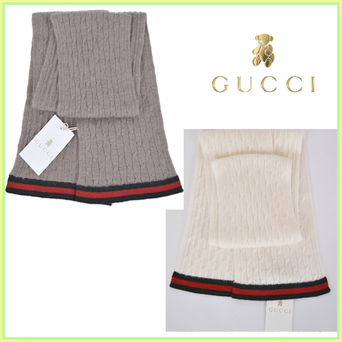 GUCCI★グッチ★素敵!100% Cashmere Knit Scarf