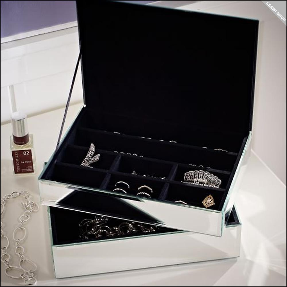 関税送料込☆Pottery Barn☆Mirrored Jewelry Box