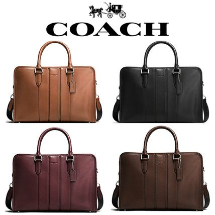 Coach men's bonded briefcase 2WAY F72309