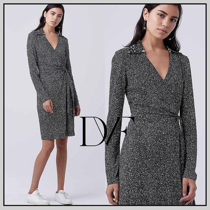 【国内配送】DVF Jelsa Faux Wrap Dress