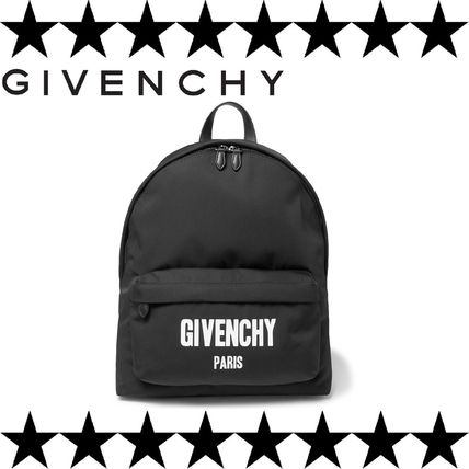 GIVENCHY (ジバンシィ) Backpack ロゴプリントリュックサック 黒