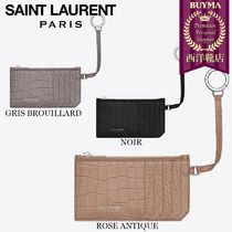 SAINT LAURENT 17SS┃CLASSIC  ZIP POUCH WITH KEY RING