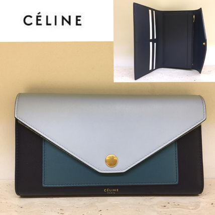 CELINE 長財布 ★NEW! 2017SS★【CELINE】POCKET TRIFOLDED WALLET (Mineral)