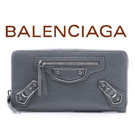 17春夏 ☆Balenciaga☆ METALLIC EDGE Zip長財布 GRIS♪