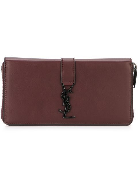 SAINT LAURENT monogram zip around wallet サンローラン財布